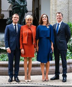 Afterwards, Crown Prince Frederik, Crown Princess Mary, the President and First Lady visited the Glyptotek and participated in a cultural arrangement with a number of Danish artists and cultural personages. Prince Héritier, Brigitte Macron, Prince Frederik Of Denmark, Queen Margrethe Ii, Danish Royalty, Emmanuel Macron, Danish Royal Family, Crown Princess Mary, French Chic