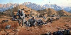 Closing the Distance by Larry Selman, collection of the 48th GA National Guard. Reproductions available at www.larryselman.com