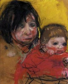 Samson children by Joan Eardley in The Scottish Sale on October 2003 at the null null sale lot 222 Baby Painting, Figure Painting, A Level Art, Mid Century Art, Life Drawing, Drawing Style, True Art, Artist Art, Figurative Art