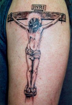 The beauty of the Jesus on the cross tattoo   Only Tattoos