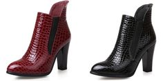 Top Quality Elegant Boots $75.00 free shipping You save 46% off the regular price of $140.00 Boot Types, Spike Heels, Bonded Leather, Toe Shape, Leather Heels, Heeled Boots, Fashion Shoes, Peep Toe, Things To Sell