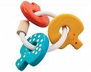 Babies love holding key-chains. -SH -- Plantoys Baby Key Rattle