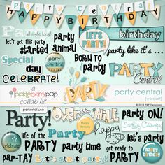 Party Central Word Art
