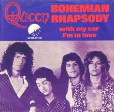 """Queen - A side is Bohemian Rhapsody written by Freddie Mercury. B side is """"I'm in Love With my Car"""" penned by Roger Taylor Rock Posters, Concert Posters, Valuable Vinyl Records, Disco 80, 70s Music, Music Radio, Somebody To Love, Queen Band, Glam Rock"""