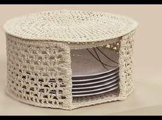 Risultati immagini per croche endurecido Crochet Box, Vintage Crochet, Crochet Lace, Knit Basket, Crochet Decoration, Crochet Kitchen, Crochet Magazine, Crochet Stitches Patterns, Mason Jar Diy