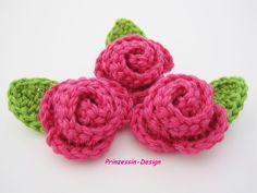 Rosen von Häkelblumen auf DaWanda.com