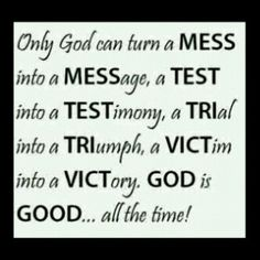 God is AWESOME :-)