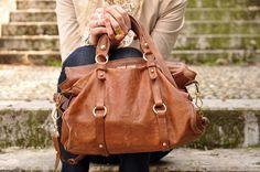 I want this colour leather handbag... tan! Love it!