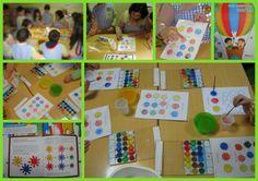 Mistura de cores primárias para encontrar as cores secundárias