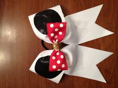 """3"""" Minnie Mouse Cheer Bow"""