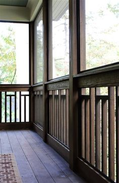 Craftsman Variation on Vertical Wood Railing Deck Railing Design, Wood Railing, Balcony Railing, Deck Railings, Railing Ideas, Porch Balusters, Gazebo Roof, Deck Design, Craftsman Porch