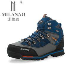 Impermeable de Cuero Genuino Botas de Senderismo Al Aire Libre Zapatos Nuevo Otoño Invierno Para Hombre Deporte Zapatos de Escalada Trekking de Montaña Botas de Gamuza