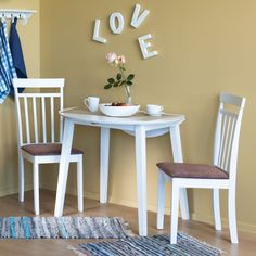 Dining table AXEL is perfect for small kitchen spaces. Modern Dinning Table, Dining Table Chairs, Outdoor Dining, Kitchen Dining, Baby Boy Rooms, Baby Boys, Ikea, Table Decorations, Storage