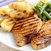Grilled Halibut and Pineapple
