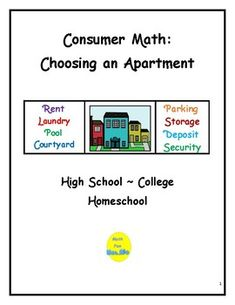 Students work in groups to evaluate three different types of apartments.  Students use a handout listing 38 different qualities of apartment living: security, deposits, square footage, renter's insurance, access to shopping, dining, entertainment, etc.