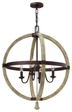 Fredrick Ramond Middlefield 4-Light Sphere Chandelier - traditional - chandeliers - Carolina Rustica