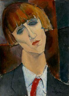Madame Kisling 1917 Modigliani Oil on canvas NGA DC