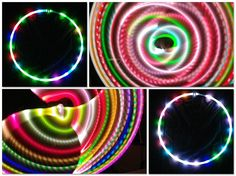 LED Hula Hoop Polypro HDPE Meltface Color Changing By TheHoopSmiths