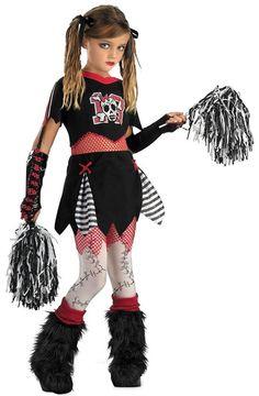 cheerleader Best Halloween Costumes for Girls | ... kids gothic cheerleader costume Scary Halloween Costume For Girls
