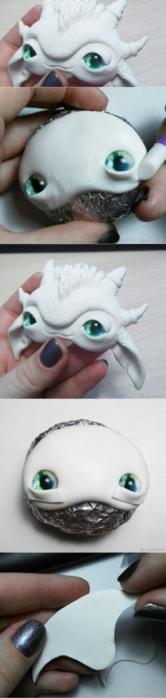 Процесс создания авторской игрушки из полимерной глины. Часть 1. Лепка мордочки - Ярмарка Мастеров - ручная работа, handmade