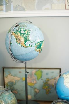 I have an obsession with maps, so much that, I have started a little collection. It only consists of a large roll-up map from a middle school (thanks, Dad!) and a globe.