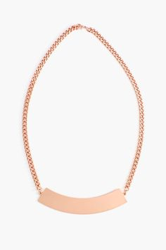Metal Bar Necklace in Rose Gold