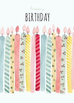 Greeting Cards - Birthday Cards - Felicity French Illustration #compartirvideos #happybirthday