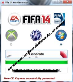 Download  fifa 14 keygen and unlock your favorite game.Here you are in the right place because our version of fifa 14 keygen is created by one of the best crackers team with big knowledge in this kind of tools.You will be able to get one unique fifa 14 serial key and to unlock Fifa 14 PC , Xbox or PS3.