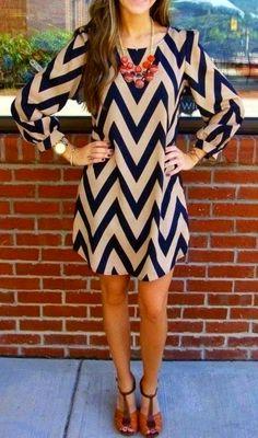 Adorable Free Size Chevron Dress
