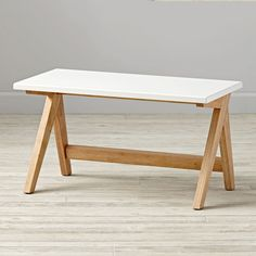 Shop Bedford Bench.  Designed just for us by Royce Nelson, our Bedford wooden bench is truly a remarkable and versatile piece of kids' furniture.  It can live in a variety of places in your home, including an entryway or even at the foot of a bed.
