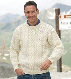 Mens cable sweater knitting pattern free free knitting patterns mens and womens wool aran sweater dt1010fo