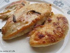 La cucina di Lilla (adessosimangia.blogspot.it): Secondi: Alla Mugnaia...si ma il pollo!Petto di pollo farina salvia burro sale pepe