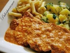 Palócpecsenye Pork Recipes, Chicken Recipes, Cooking Recipes, Recipe Chicken, Weekday Meals, Hungarian Recipes, Hungarian Food, Tasty, Yummy Food