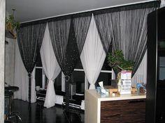 Нитяные шторы, шторы-нити в интерьере, фото, дизайн