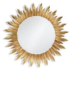 "Luxury Designer 69"" Round Gold Gilded Solar Wall Mirror, so beautiful, inspire your friends and followers interested in luxury interior design, with new trending accents from Hollywood courtesy of InStyle Decor Beverly Hills, Luxury Designer Furniture, Lighting, Mirrors, Home Decor & Gifts, over 3,500 inspirations to choose from and share with our simple one click Pinterest Pin button enjoy & happy pinning"