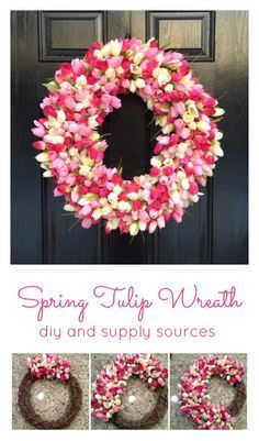 Spring Tulip Wreath diy  From the Family With Love