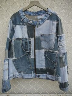 Now here's a way to utilize every scrap of old jeans! Would anyone wear this...?