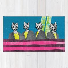 """""""lupi (they are looking at you)"""" Rug by Juni on Society6."""