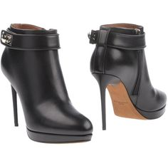 Givenchy Ankle Boots (1,330 CAD) ❤ liked on Polyvore featuring shoes, boots, ankle booties, black, black stiletto boots, black stiletto booties, stiletto boots, stiletto booties and high heel stilettos