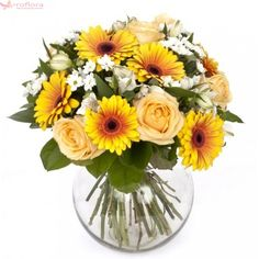 I have a few friend's with birthdays coming up and I don't know what to get them. I'm thinking of finding a present that is all inclusive. My boyfriend suggested getting them each gift baskets. Gift Baskets, Flower Arrangements, Glass Vase, Bouquet, Table Decorations, Plants, Gifts, Sunshine, Birthdays