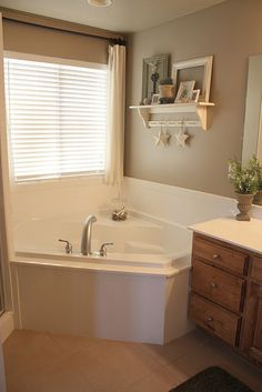 I  have a big wall in my master bathroom this would look great on. This is from Country  Girl Home blog.