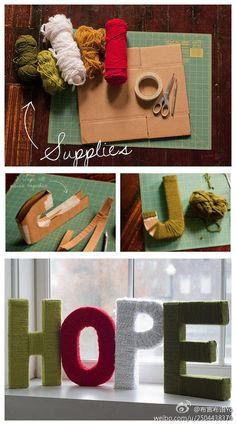 DIY letters project - creative way to make the forms with recycled cardboard boxes