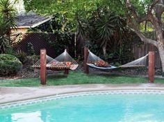 4 Stylish, Easy And Cozy Diy Hammock Stand Ideas For The Beginners - Crafts Zen Backyard Hammock, Diy Hammock, Backyard Pool Landscaping, Fire Pit Backyard, Hammock Ideas, Hammock Stand, Hammocks, Oasis Backyard, Landscaping Tips