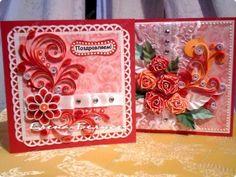 Ziua Îndrăgostiților Felicitare scrapbooking 8 Martie Ziua de naștere Nunta aplicatiile Quilling cuplu Mamei dungi purpurii carton Hîrtie Hî...