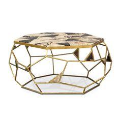Palecek Giselle Petrified Wood Coffee Table PK704079