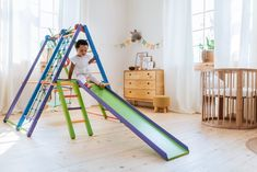 20 Best Indoor Climbing Toys for Toddlers - Allergyummy Toddler Jungle Gym, Indoor Jungle Gym, Toddler Gifts, Toddler Toys, Toddler Climbing Toys, Toy Wagon, Indoor Play Areas, Wooden Playset, Swing And Slide