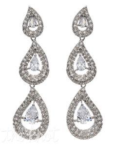 3 tier pear earrings