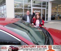 Century 3 Kia would like to say Congratulations to David Baier on the 2012 Kia Optima