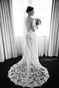 Loews Hotel Wedding. Bride in @watterswtoo Mila wedding dress.