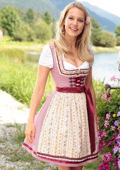 Krüger Madl Dirndl midi mit Bänderschnürung online kaufen bei OTTO